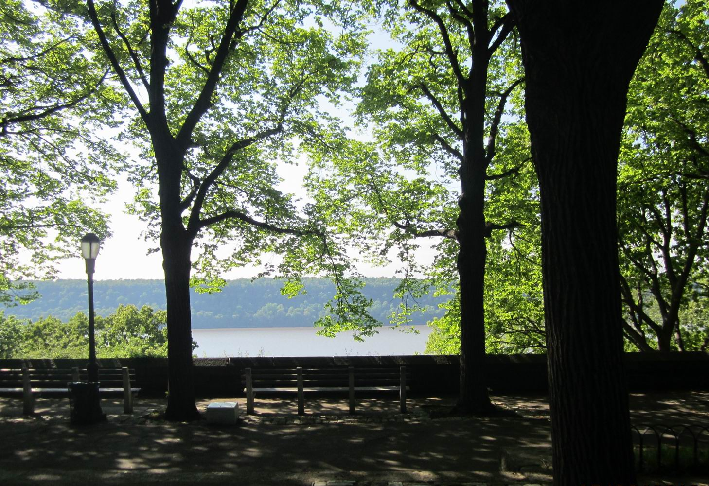 View of the Hudson from Linden Terrace