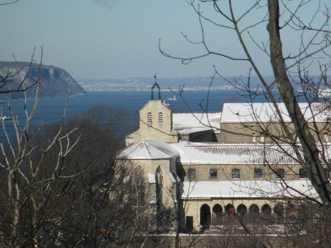 The Cloisters with the Tappan Zee Bridge in the background